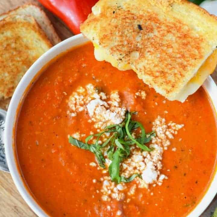 Roasted Tomato Garlic Soup Recipe Butter Your Biscuit