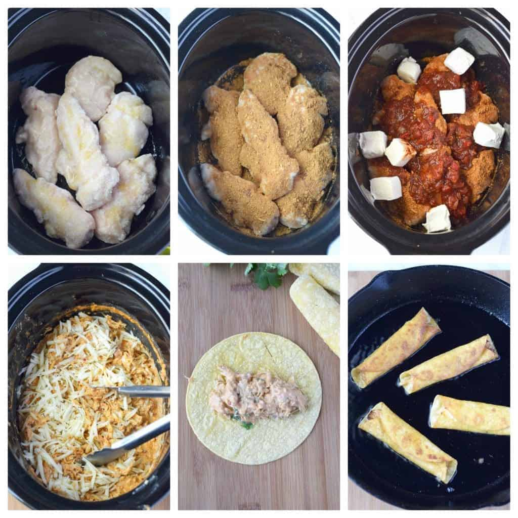 pepper jack chicken taquitos prep steps