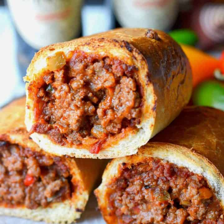 Sloppy joe stuffed rolls