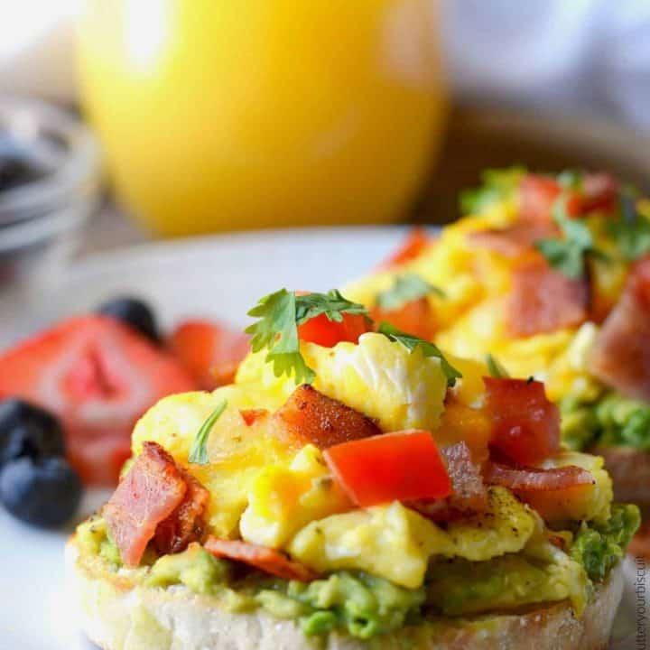 open faced breakfast sandwich