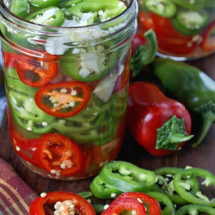 Refrigerator Pickled Jalapeños