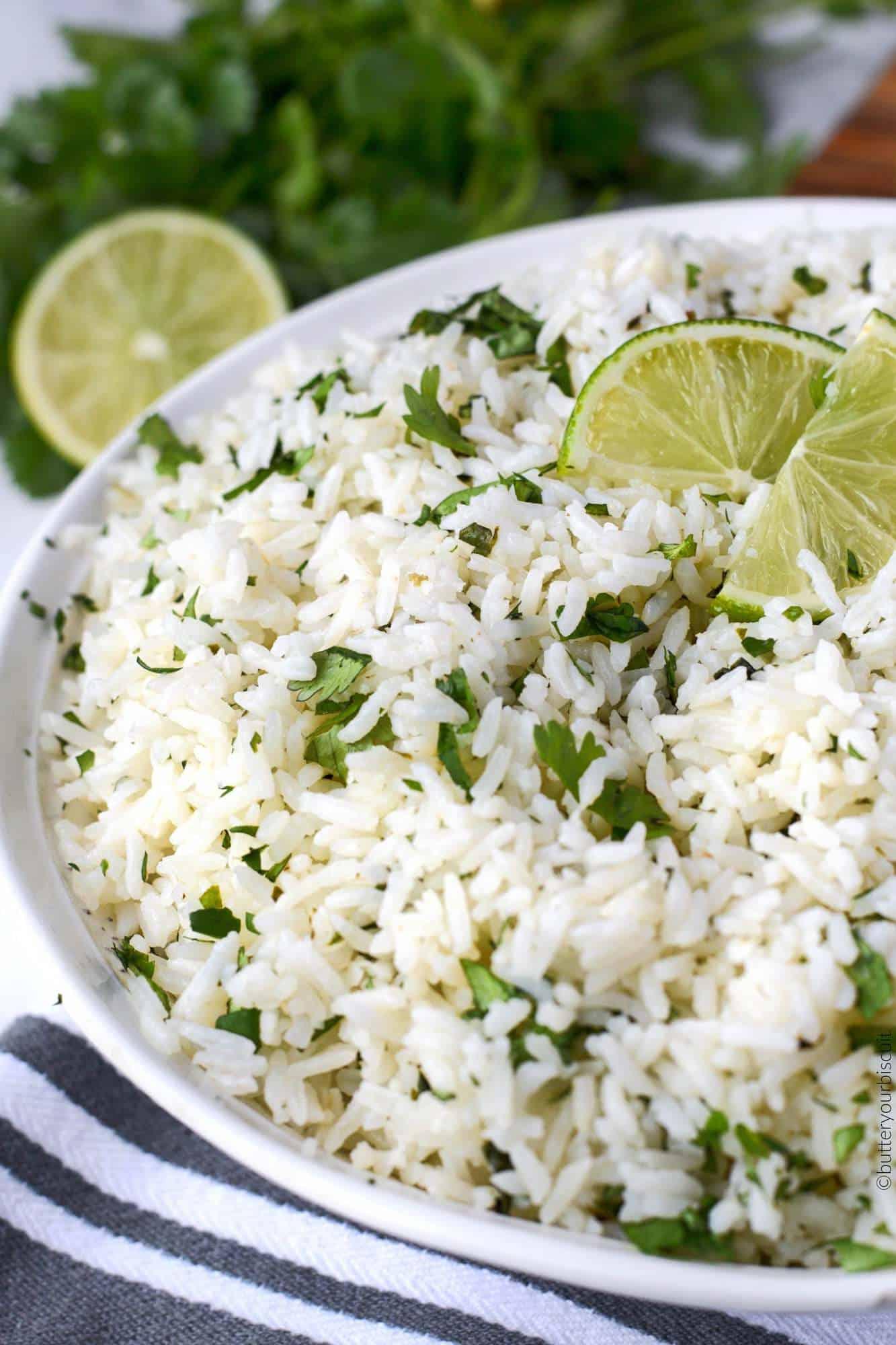 cilantro garlic lime rice
