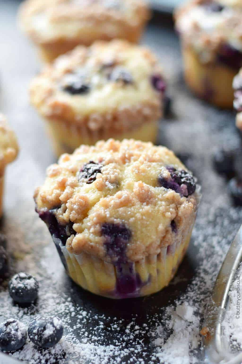 Sour Cream Blueberry Muffins Recipe Butter Your Biscuit