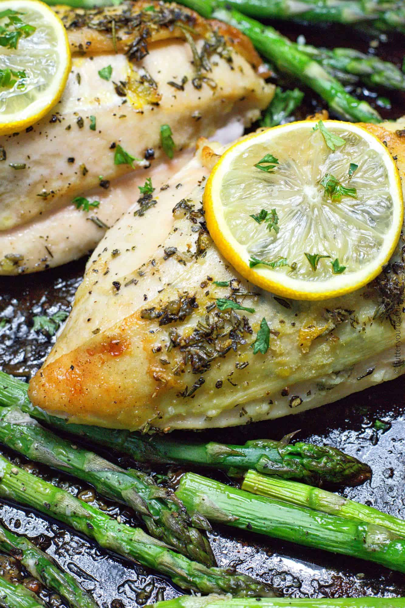Easy Sheet Pan Lemon Herb Chicken and Parmesan Asparagus ...