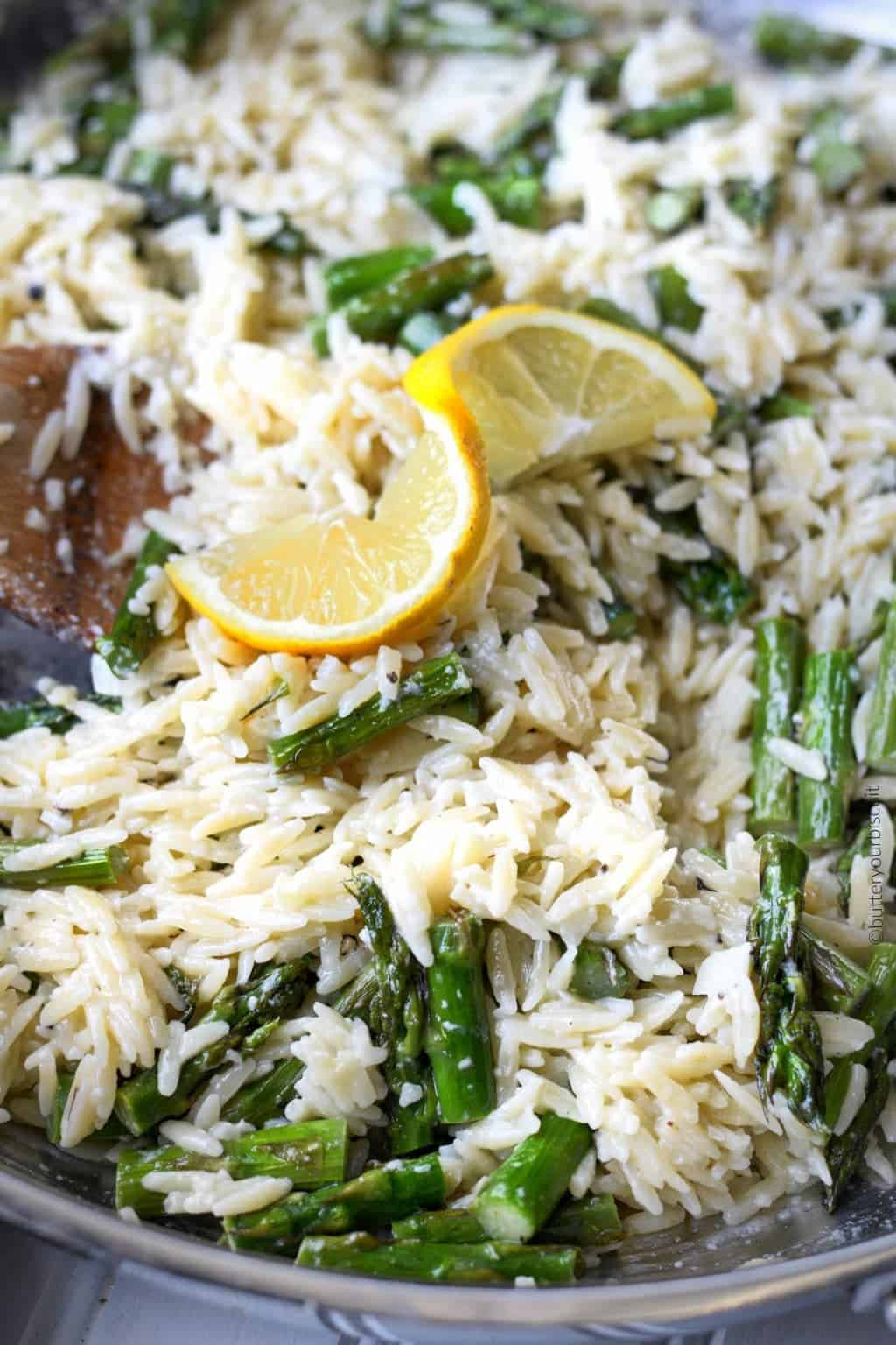 Lemon Garlic Parmesan Orzo With Asparagus Butter Your Biscuit
