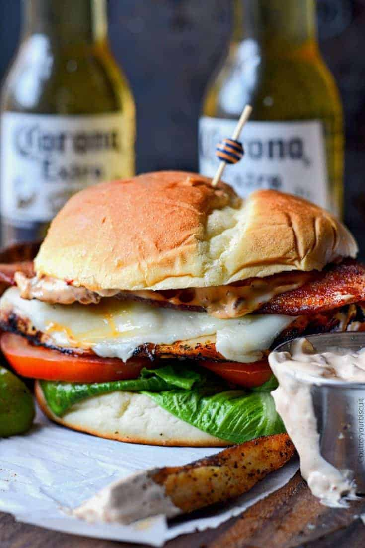 Tequila Lime Grilled Chicken Club