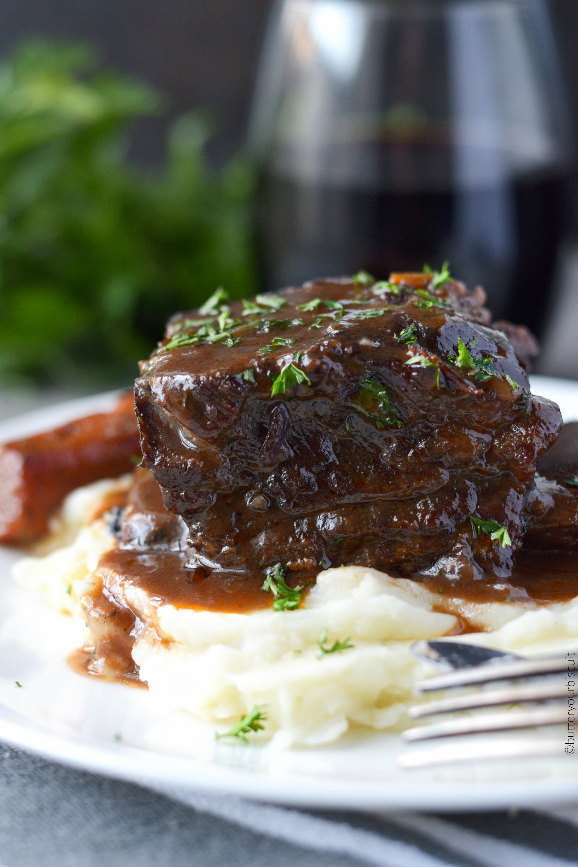 Beef Short Ribs Braised in Red Wine - Butter Your Biscuit