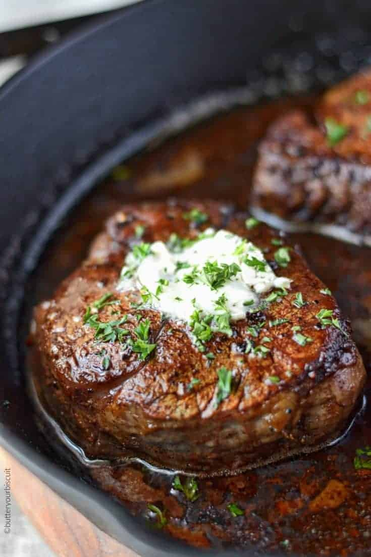 Filet Mignon With Garlic Herb Butter Butter Your Biscuit