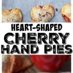 Heart shaped cherry hand pies