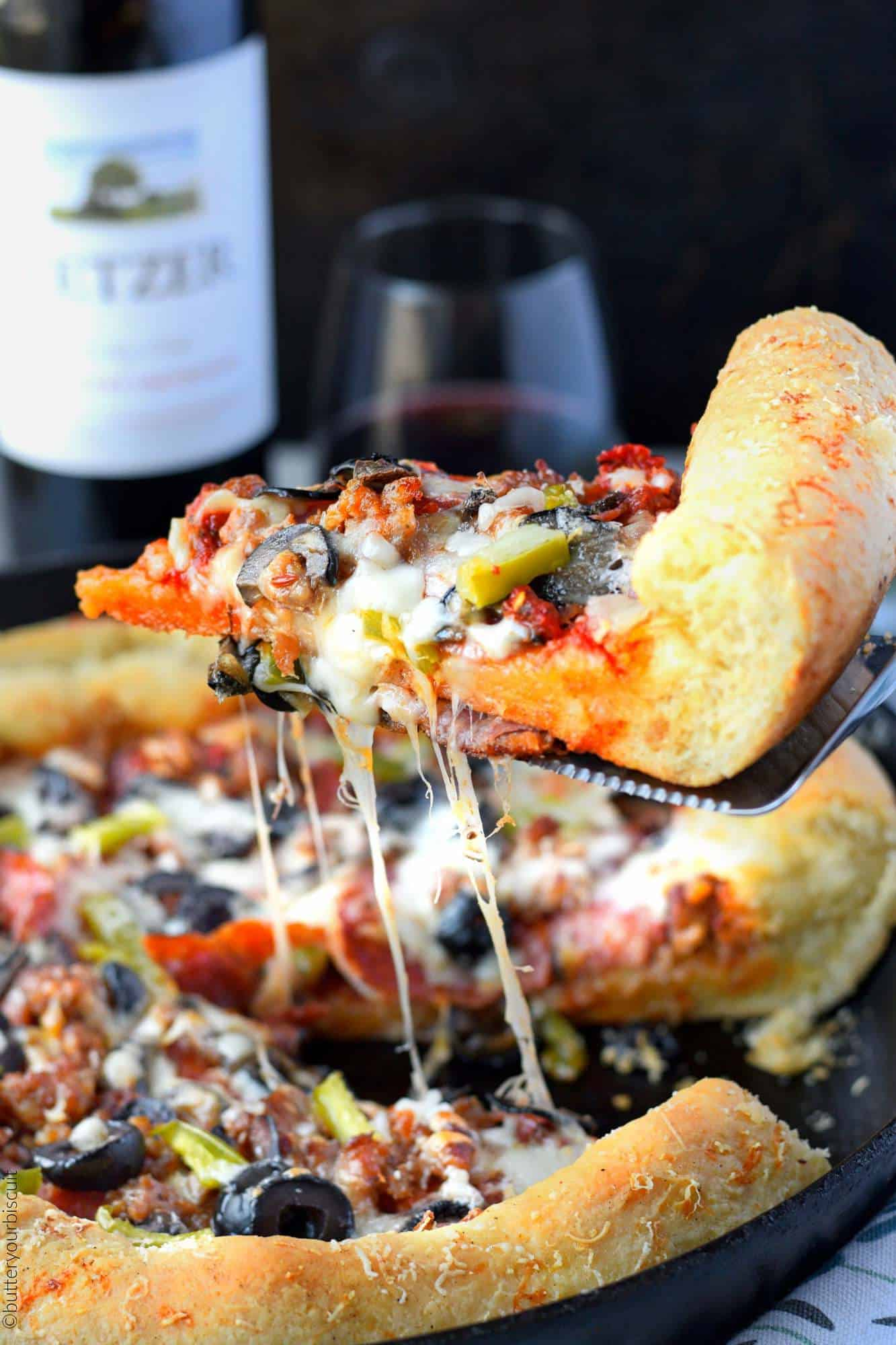 Perfect Cast Iron Skillet Pizza Recipe Butter Your Biscuit