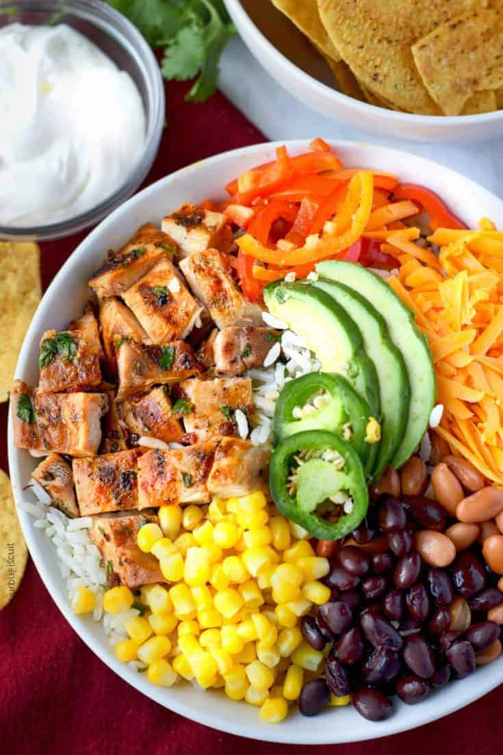 Tequila Lime Chicken Burrito Bowl