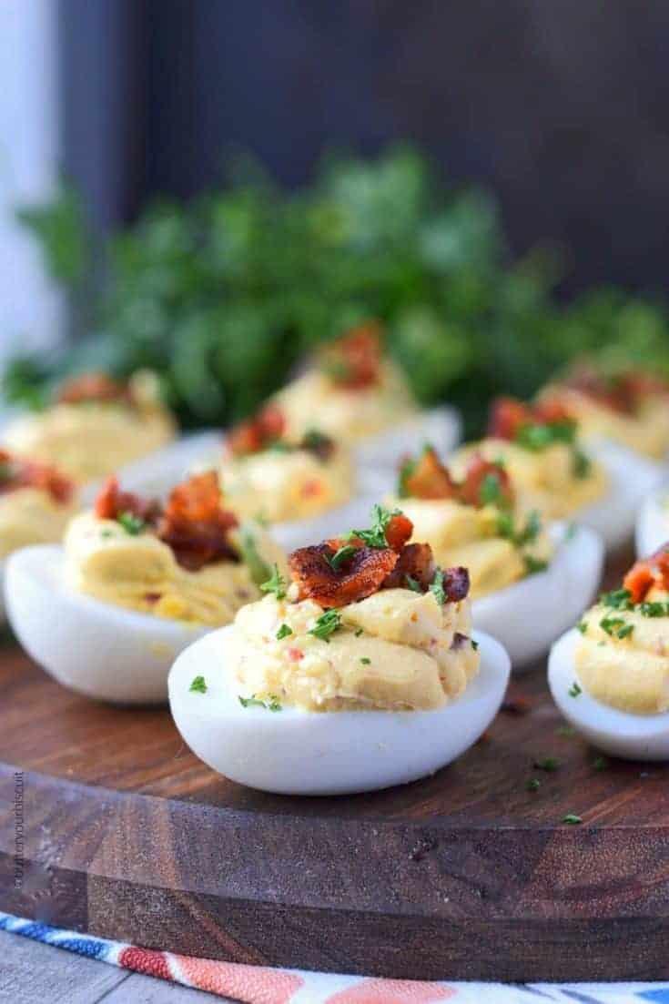 Chipotle Bacon Deviled Eggs