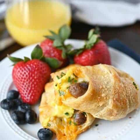 Sausage, Egg, Cheese Crescent Roll Ups