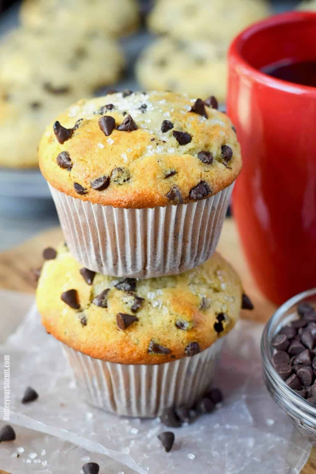 Chocolate Chip Muffins Recipe Butter Your Biscuit