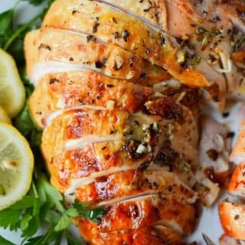 Brined Garlic Herb Turkey Breast