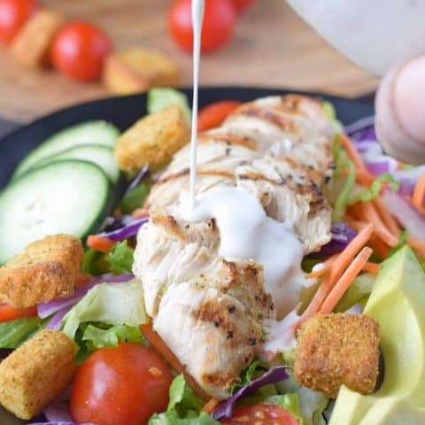 chicken salad with ranch homemade salad dressing