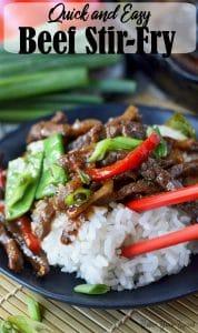 Beef stir fry pinterest pin