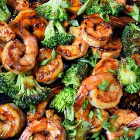 Honey Garlic Butter Shrimp & Broccoli