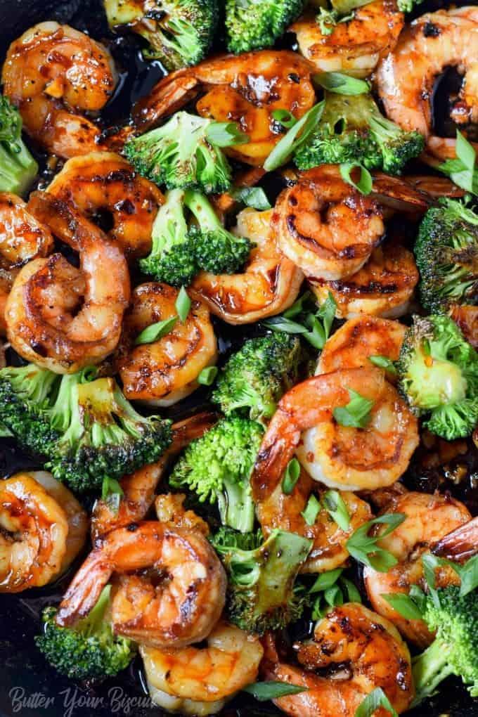 Honey Garlic Butter Shrimp Broccoli Butter Your Biscuit