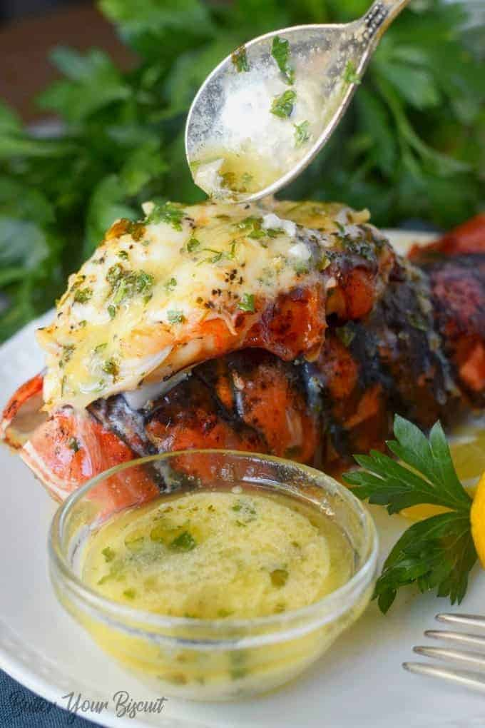 Broiled Lobster Tails with Garlic Lemon Butter