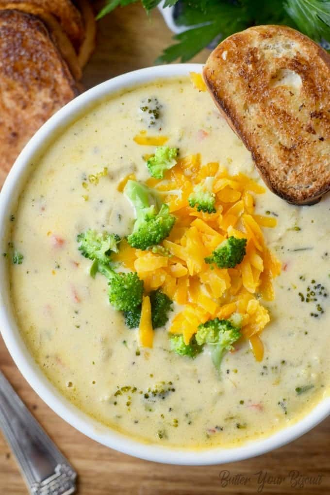 Copycat Panera Broccoli Cheese Soup Butter Your Biscuit