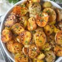 Honey Garlic Roasted Potatoes
