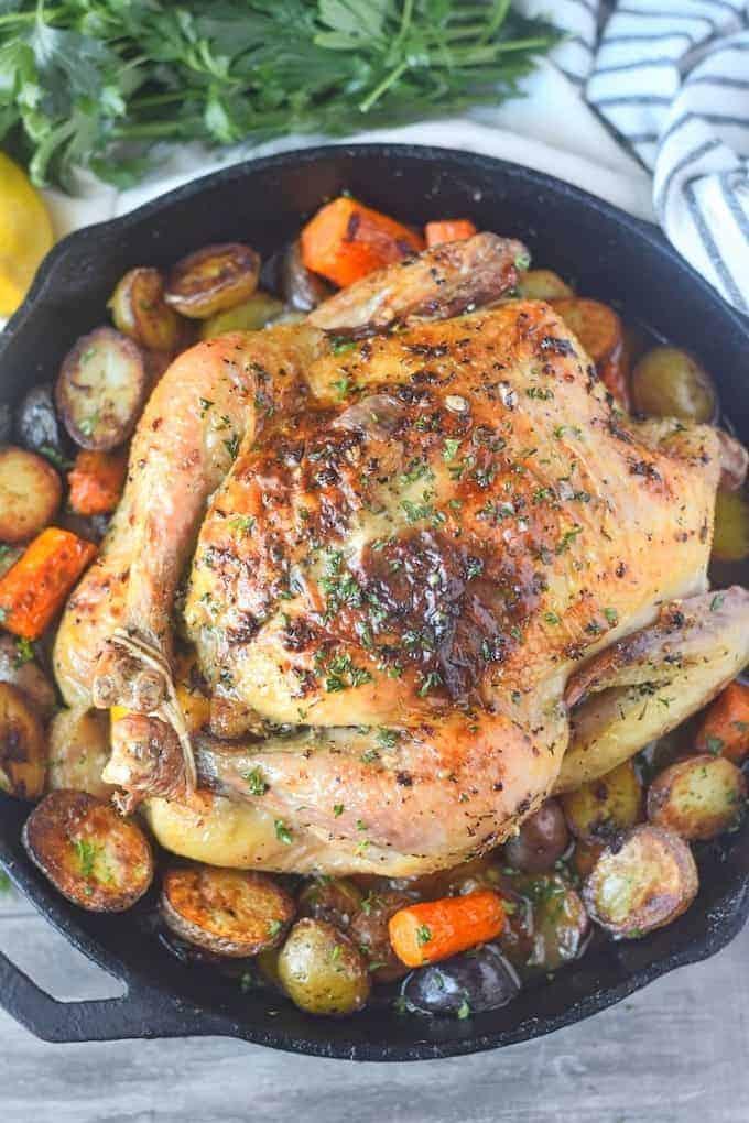 Lemon Garlic Roasted Chicken