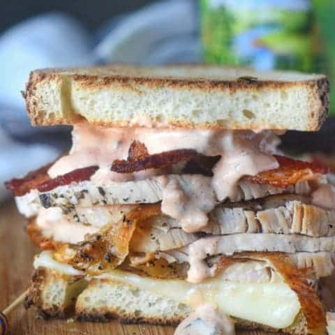 Thanksgiving Leftover Turkey Bacon Sandwich
