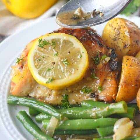 Slow Cooker Lemon Honey Chicken and Vegetables