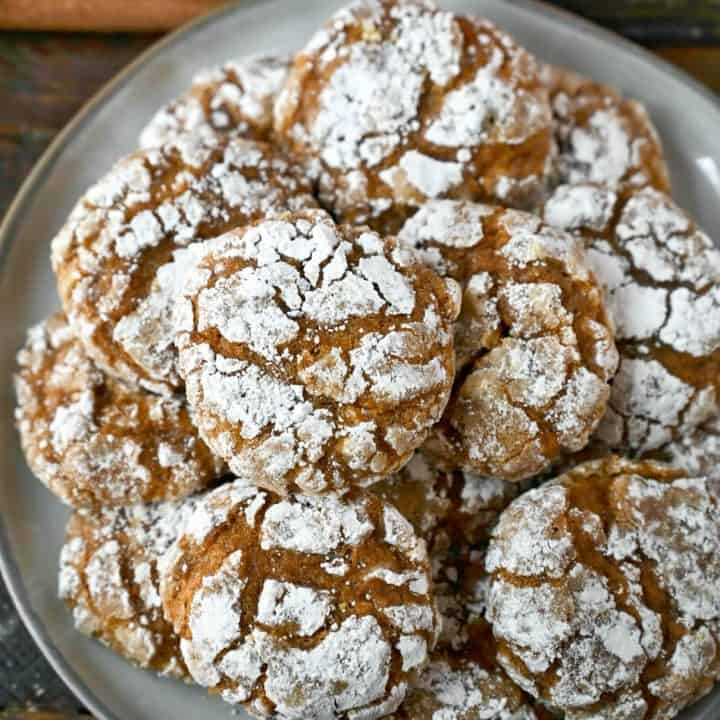 A plate of pumpkin cookies.