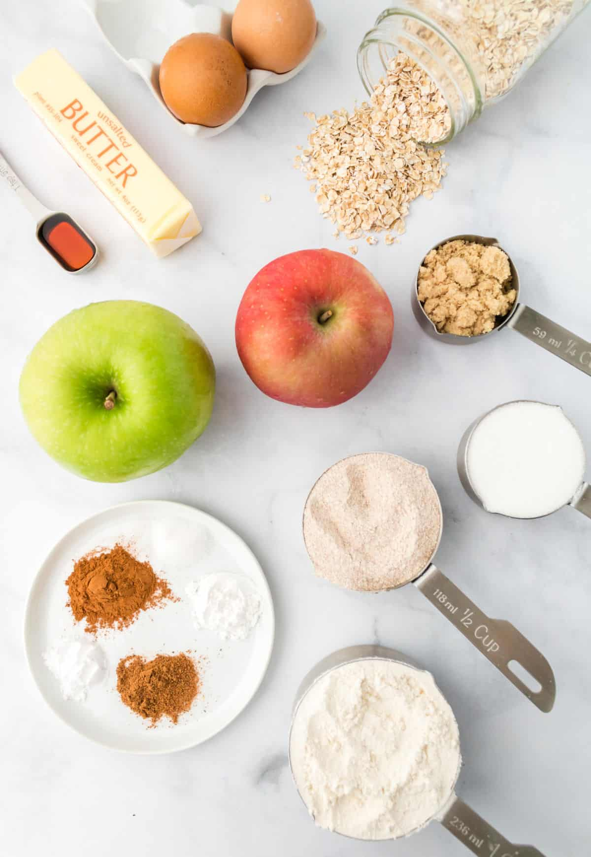A photo of all the ingredients needed for this recipe.