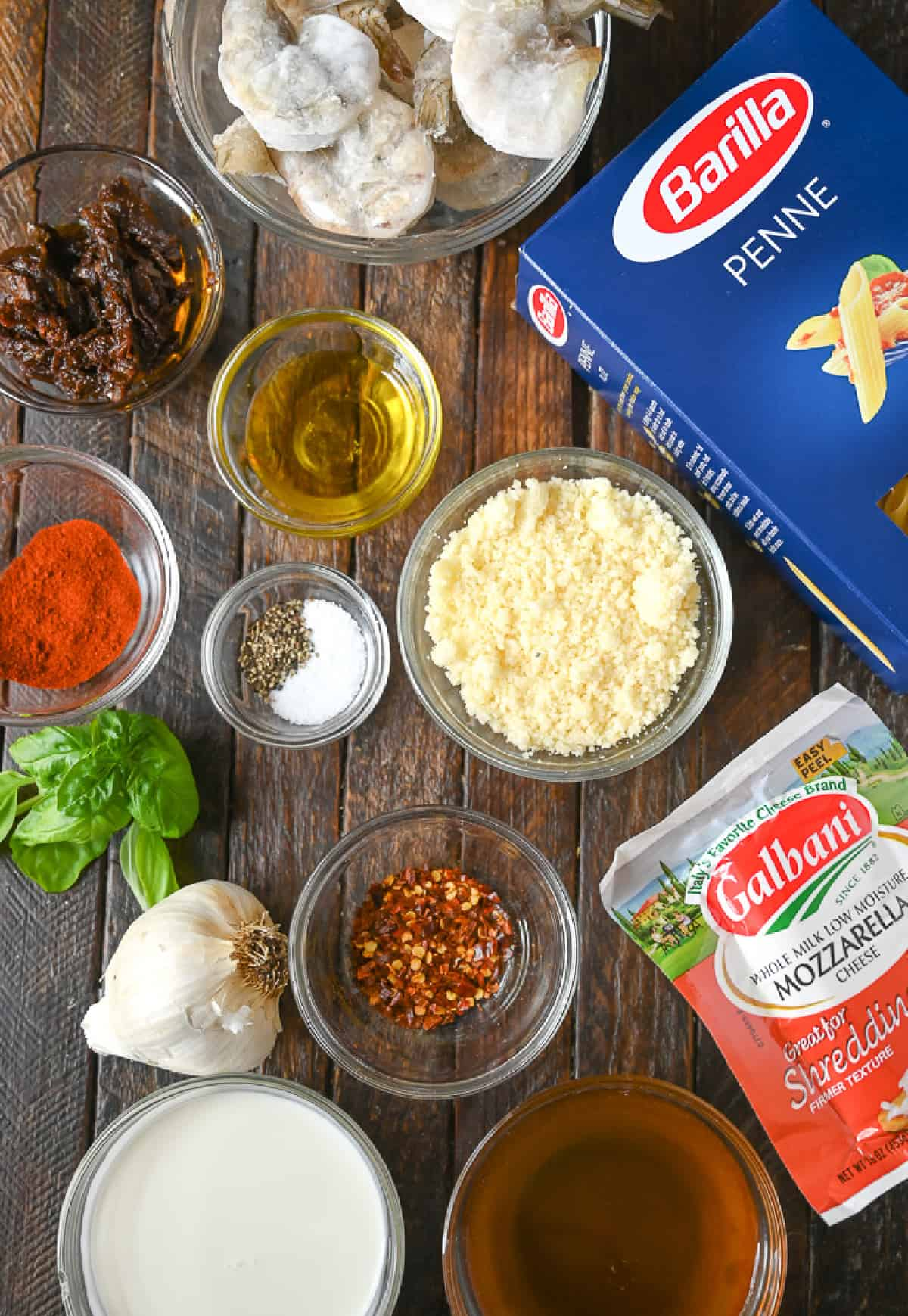 All the individual ingredients needed for this recipe.