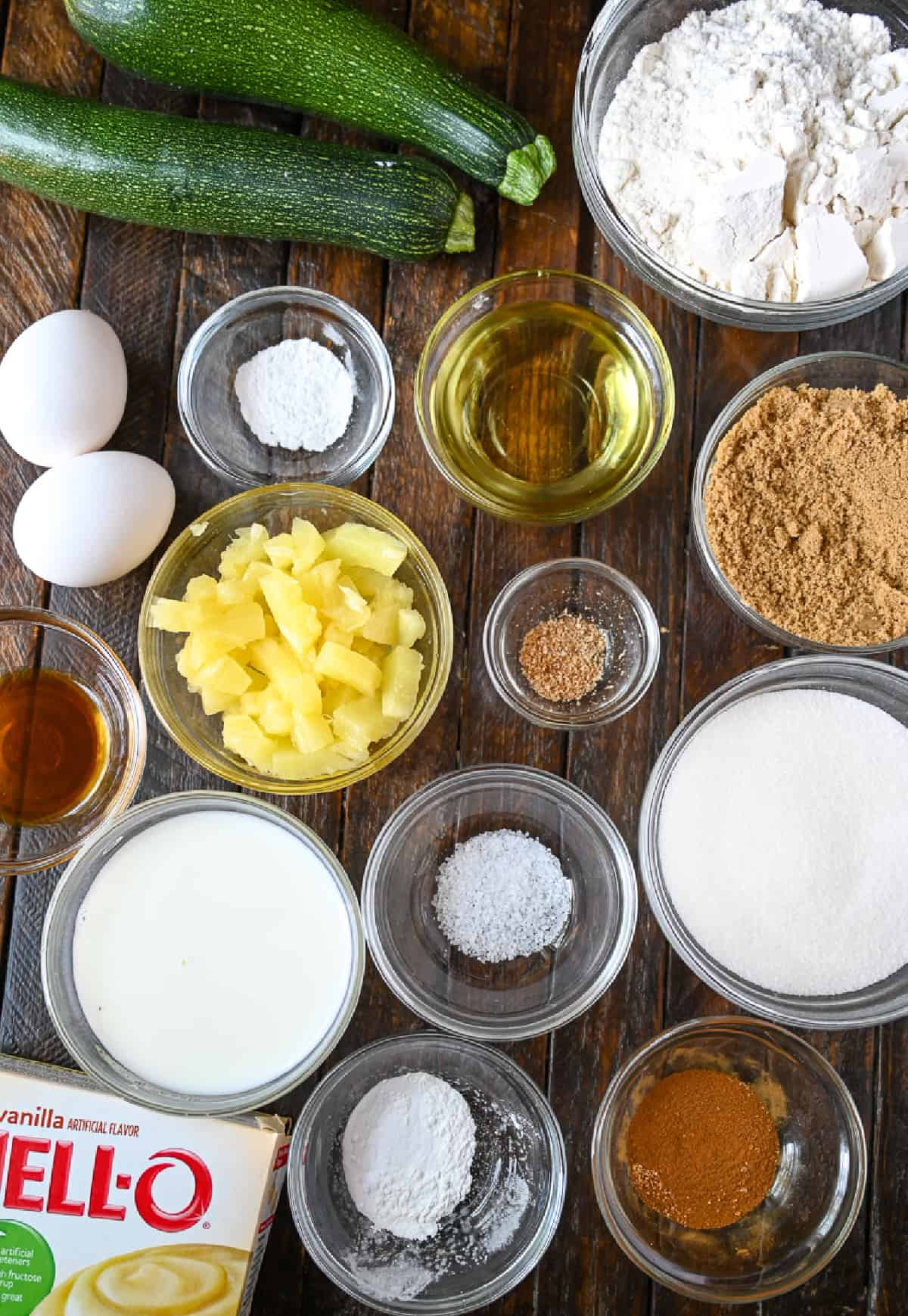A photo ofall the ingredients required to make this recipe.