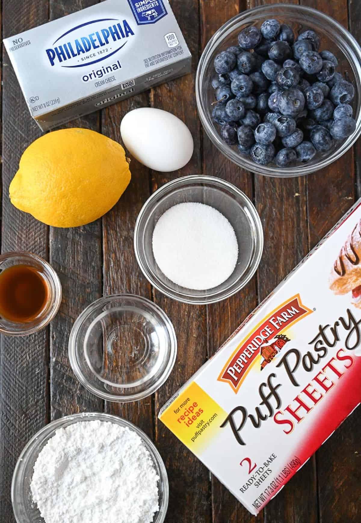 Blueberry cream cheese danish ingredients.